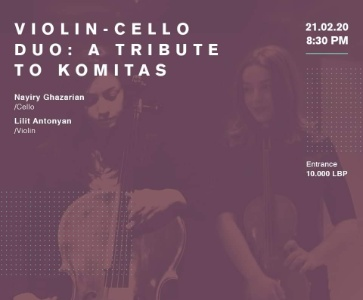 Violin-Cello Duo: A tribute to Komitas